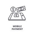 mobile payment line icon outline sign linear vector image