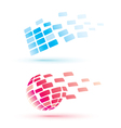 abstract globe icons business and comunication con vector image vector image