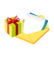icon letter and gift box vector image vector image