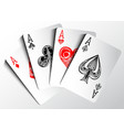 Set of aces vector image