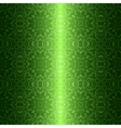 Damask vintage floral green seamless pattern vector image