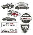 set of vintage car symbols Car service and vector image