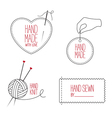 Handmade and tailor emblems set vector image