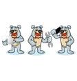 Bulldog Mascot with laptop vector image