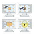 Computer security icons set 2 vector image