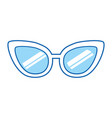blue icon sunglasses cartoon vector image