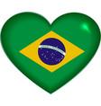 Heart shape Brazilian flag vector image