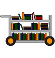 Library cart vector image