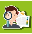 man and papers isolated icon design vector image