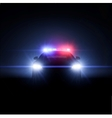 Police car with full array of lights vector image