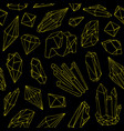 seamless pattern with beautiful gems crystals or vector image