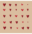 Seamless pattern with hearts repeating texture vector image