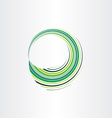 spring green wave circle abstract background vector image
