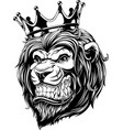 the head of a lion in the crown vector image