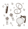 Womens accessories set vector image