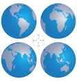 world globe maps vector image