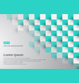 Abstract background green turquoise square vector image