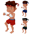 Thai Boxing vector image vector image