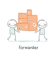 forwarder is boxes with the goods vector image vector image