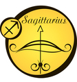 stylized zodiac signs in a yellow circle vector image vector image