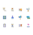 Flat color account planning icons set vector image
