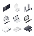 Home entertainment devices isometric icon vector image