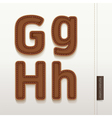 Alphabet Leather Skin Texture vector image