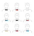 bow tie set vector image