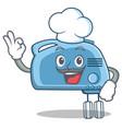 chef mixer character cartoon style vector image