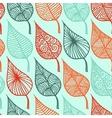 floral leaf seamless pattern doodle vector image