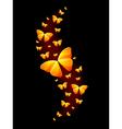 Shiny Butterflies vector image