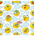 summer seamless pattern with sun vector image vector image