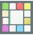 Torn Notebook Sheets Banners for Notes vector image
