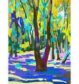 original digital painting of summer landscape vector image