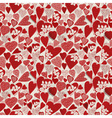 Grunge heart seamless pattern vector image vector image