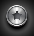 metallic star icon vector image