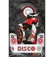 Disco girl vector image