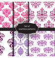 Set of seamless luxury patterns vector