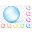 Multicolored transparent spheres vector image vector image
