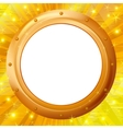 frame porthole on gold background vector image vector image