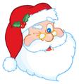 Santa Winking vector image