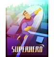 Superhero Poster vector image
