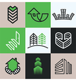 buildings logo icons vector image