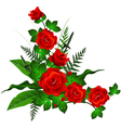 decoration with red rose vector image