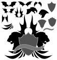 dragon wing heraldry vector image