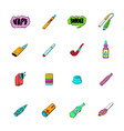 e-cigarettes icons set cartoon vector image