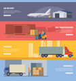 horizontal banners of delivery or logistics vector image
