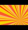 Light Ray Burst Abstract Background Orange vector image