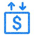 money elevator grunge icon vector image