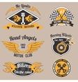Motorcycle design badges vector image